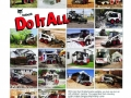 """1993 ad with the theme """"Do it all"""" showed Bobcat machines with dozens of attachments in many different applications."""