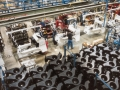 A mixed model assembly line in Gwinner, North Dakota, produced just about every Bobcat loader model every day.