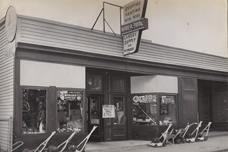 Landry Rental Center's original storefront