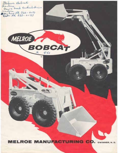 M440 Bobcat loader product literature in 1962.