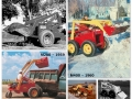 A photo collage shows how the first Melroe M60 self-propelled loader evolved to the Bobcat M440 in four years – 1958 to 1962.