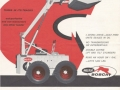 "Specification sheet for the first ""Melroe Bobcat M440 Self-Propelled Loader"" introduced in 1962 (the term ""skid-steer"" wasn't widely used.) With a 2-cylinder 15.5 HP Onan engine, the M440 had a rated capacity of 1000 lbs."
