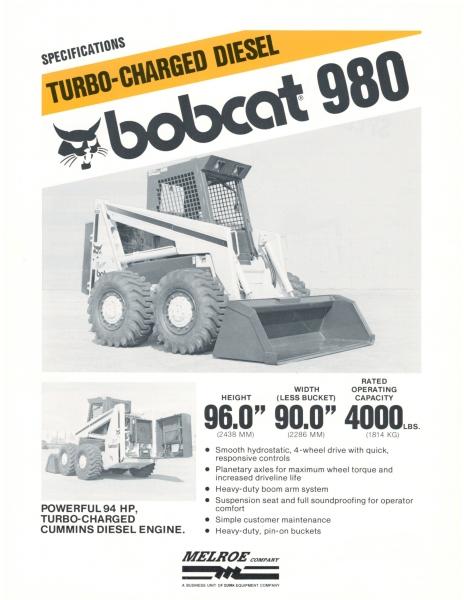 Bobcat 980 skid-steer loader