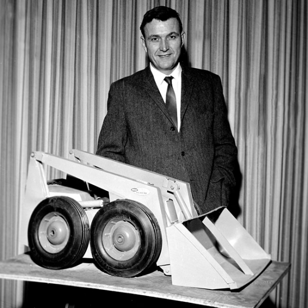 Jim Bauer was head of engineering and chief advocate for development of a hydrostatic skid-steer loader.