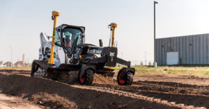Bobcat compact track loader with laser grader