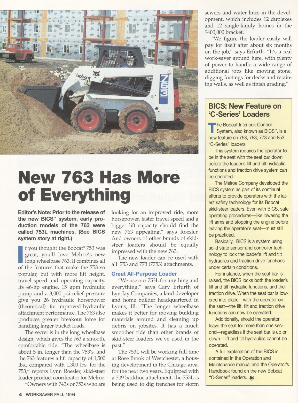 763 in WorkSaver, Fall 1994