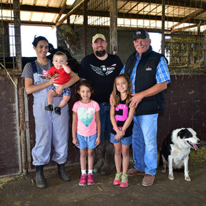 The Van Exel family on their dairy farm.
