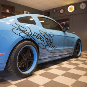 The first-of-its-kind Richard Petty Mustang is a prized possession of Linhart.