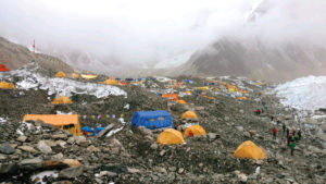 Campsites on Mt. Everest