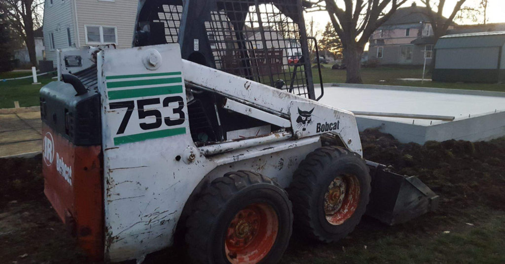 Chris Wagner's Bobcat 753 skid-steer loader that he refurbished.