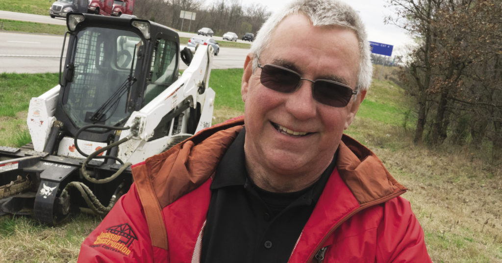 David Jackson with Bobcat T590 compact track loader.