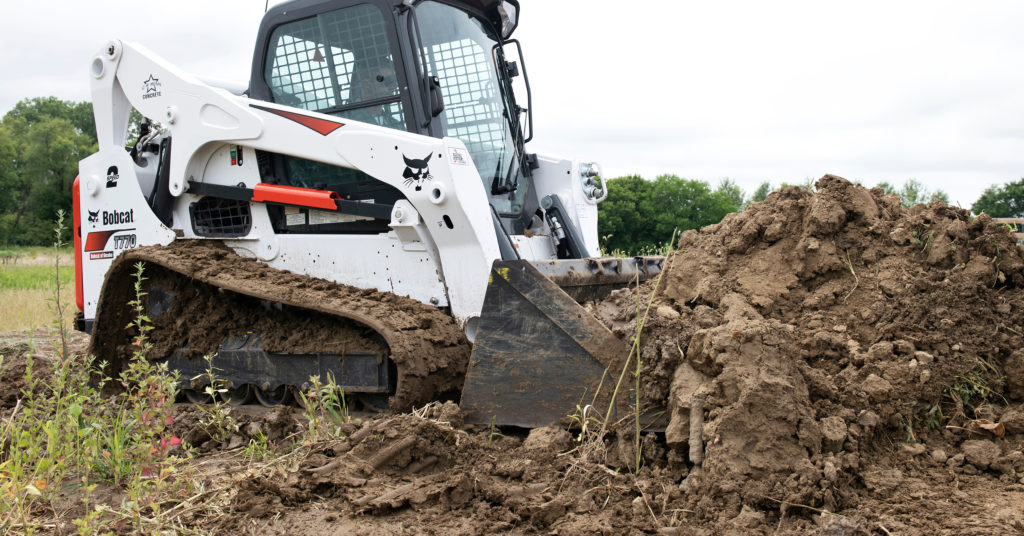Chris Menn moves dirt with his T770 compact track loader