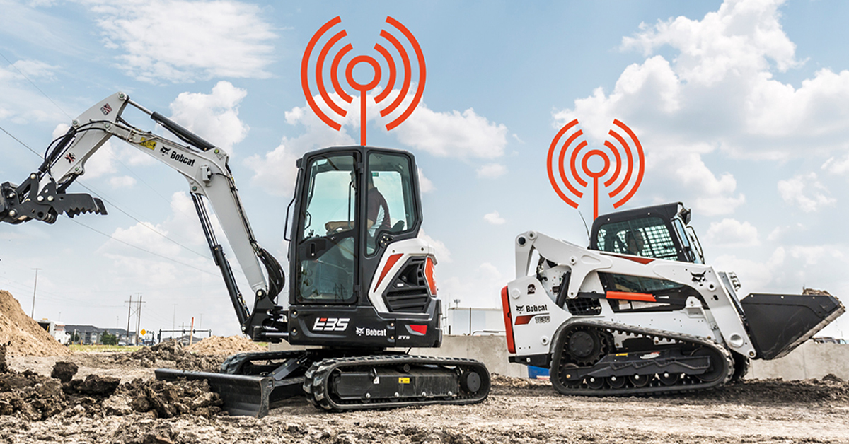Bobcat Excavator and Bobcat Compact Track Loader Working Together On A Jobsite