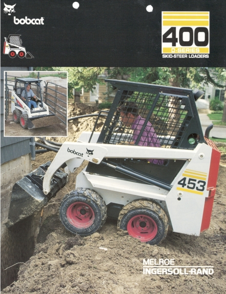 "Click to download PDF of the 600-lbs. rated ""D-Series"" 450 and 453 Bobcat loaders."