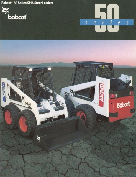 "The 50 Series Bobcat skid-steer loader ""family"" in 1991 consisted of just two models — 753 and 853. Click to download PDF."