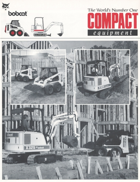"The Bobcat product family in 1994 included both loaders and excavators, so this literature was produced as a ""full-line"" piece. Click to download PDF."