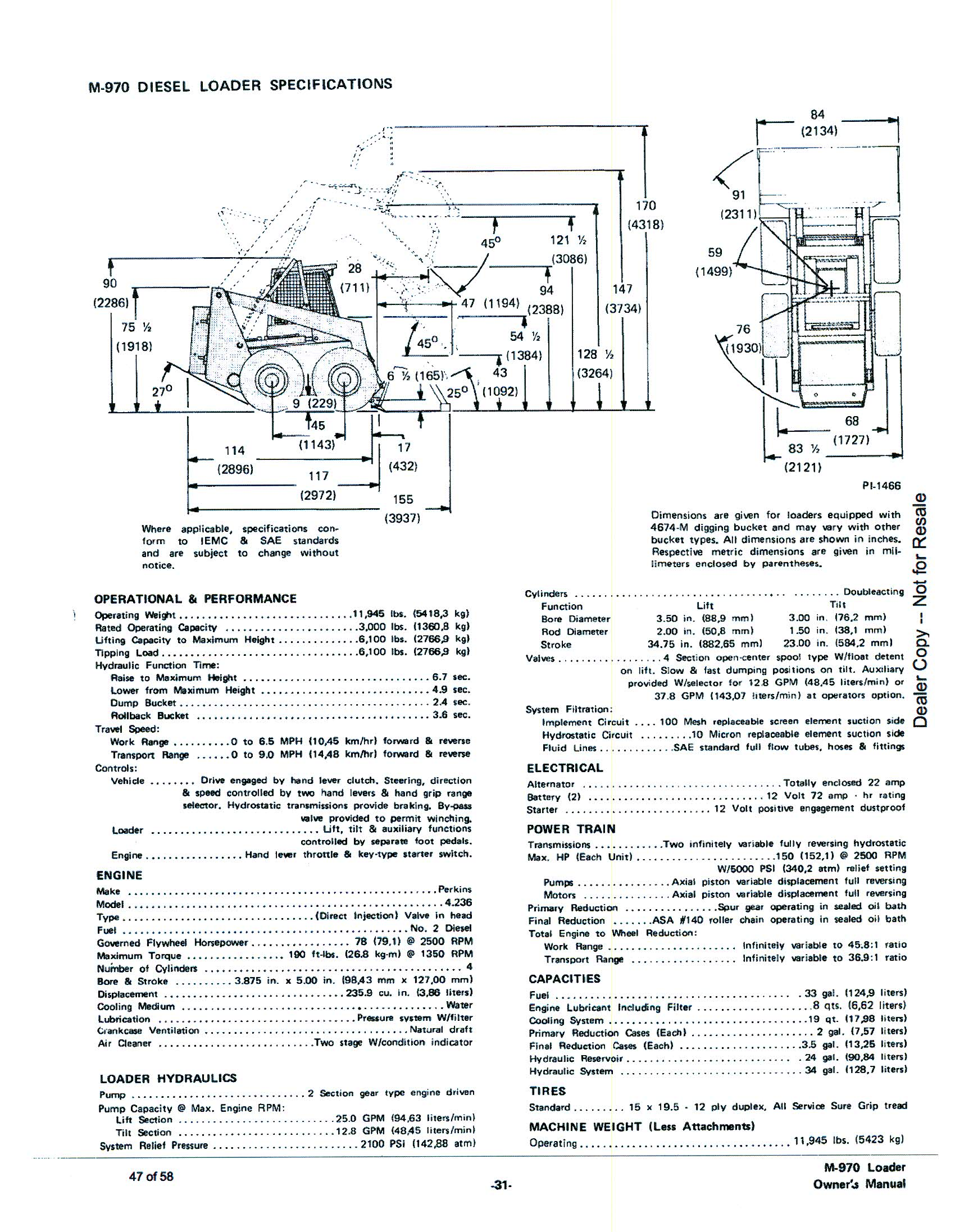 Clark Bobcat Wiring Diagram Harness Schematics 863 Fuse Box Lq9 Instruction Manual 7 Pin Schematic