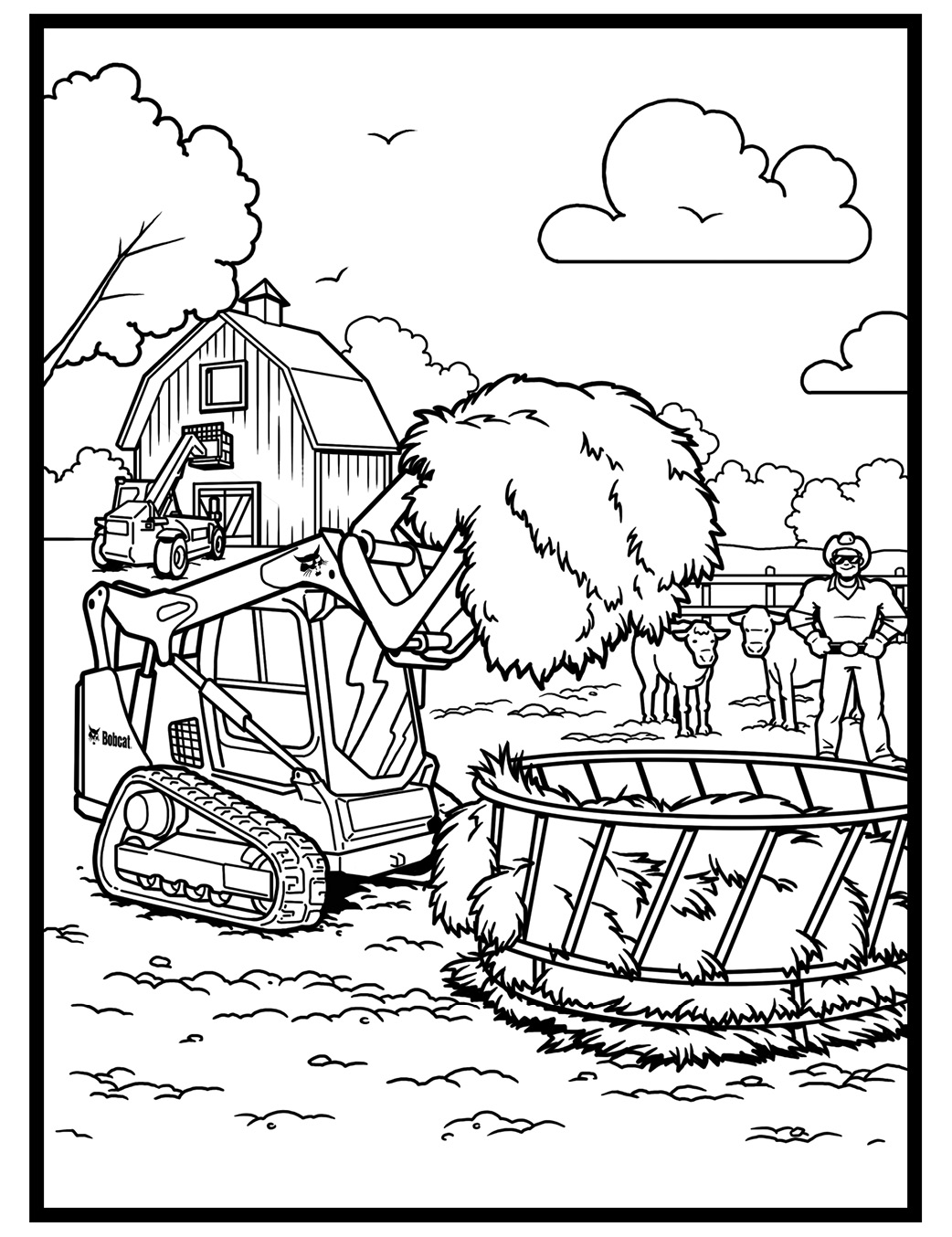 Printable Construction machines | Free Construction Coloring Pages ... | 1354x1042
