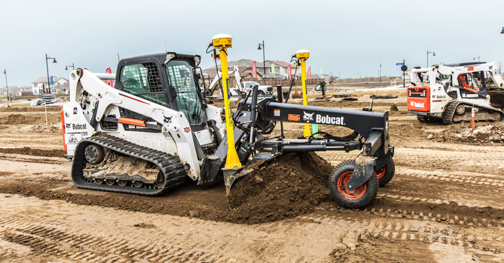 How To Grade With A Track Loader