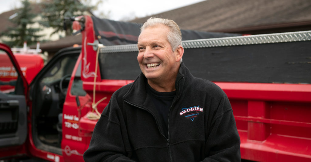 Stan Swogier, owner of Swogier Construction and Bobcat attachments