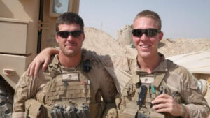 Brothers Peter and Micheal Freundschuh serve with the U.S. Marines in Marjah, Afghanistan, in 2010.