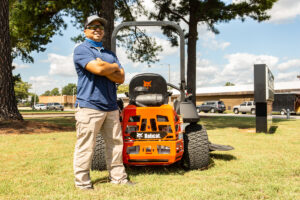 Junior Santos With A Bobcat ZT6100 Zero-Turn Mower